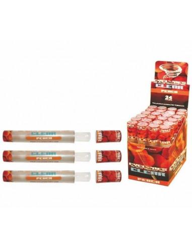 Bibułka smakowa CYCLONE Clear Peach 1szt. gotowa do nabicia