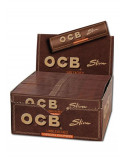 OCB VIRGIN Slim unbleached bibułki brązowe ocb