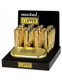 CLIPPER METAL GOLD metalowa zapalniczka
