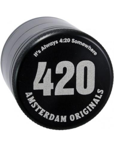 Młynek grinder Amsterdam 420 Aluminiowy 4 częściowy magnetyczny 40m