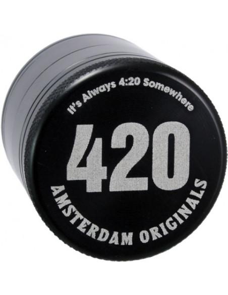 Młynek grinder Amsterdam 420 Aluminiowy 4 częściowy magnetyczny 50mm