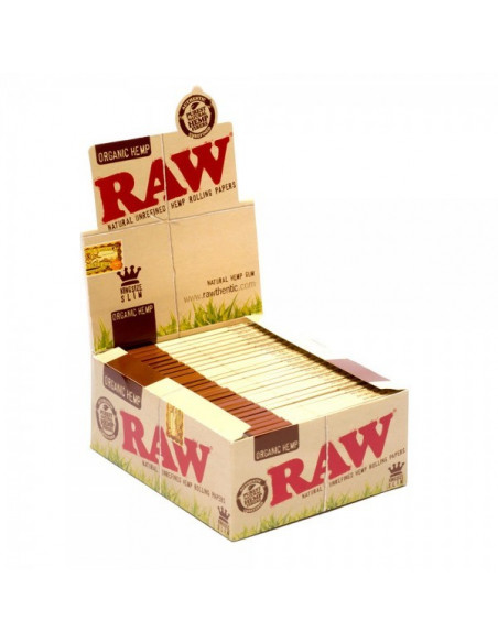 RAW ORGANIC HEMP slim King Size bibułki Unbleached