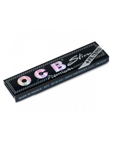 Bibułki OCB BLACK Slim + Filterki białe