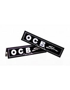 OCB BLACK Bibułki Slim Premium białe