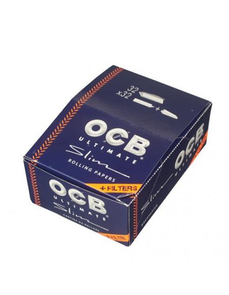 OCB Ultimate Slim - Bibułki + filtry białe