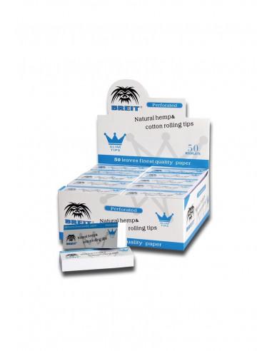 Breit Filterki SLIM 50 Hemp Cotton perforowane białe
