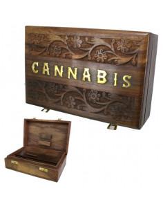 ROLL BOX CANNABIS 2 pudełko drewniane na jointy i bibułki