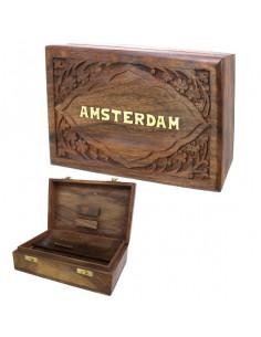 ROLL BOX AMSTERDAM pudełko drewniane na jointy i bibułki