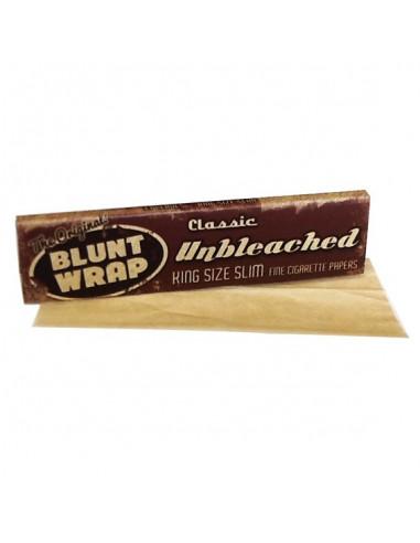BLUNT WRAP  Unbleached King Size slim bibułki Unbleached