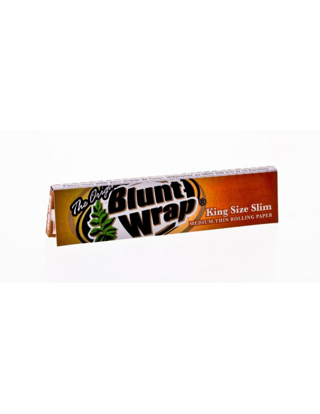BLUNT WRAP Medium Thin King Size slim bibułki Unbleached