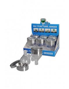 Młynek MULTIFUNCTIONAL z dozownikiem 56mm aluminiowo-akrylowy