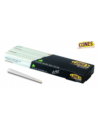 Original CONES 50 pcs. Ready King size Joints Twisted Tissue Paper