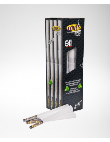 Original CONES BOX 64 pcs. Ready King size Joints Twisted Tissue Paper