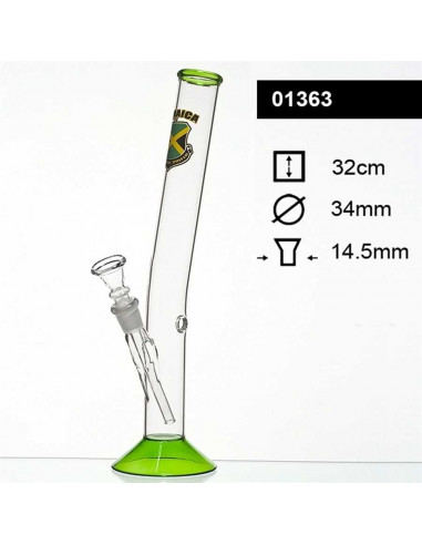 JAMAICA HANGOVER GLASS Bongo fajka wodna 32cm