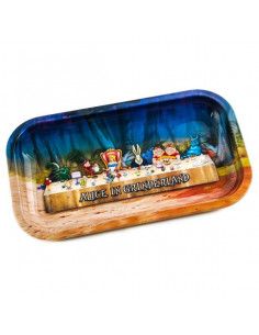 V-SYNDICATE ALICE IN GRINDERLAND tray for rolling joints
