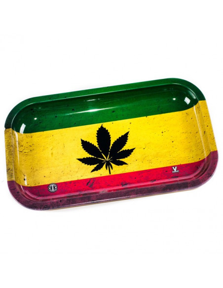 V-SYNDICATE RASTA tacka do zwijania jointów rolling tray metalowa