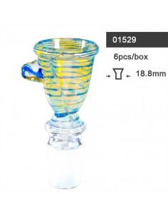 Cybuch zmieniający kolor do bonga fajki wodnej 18.8mm