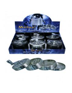 Metal 63mm Grinder Kraszer Młynek z korbką Aluminium 4 częsciowy