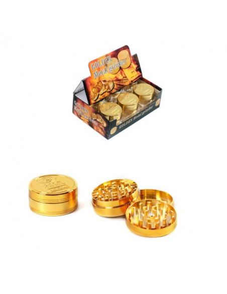 GOLDEN  52mm 3 częściowy młynek grinder kraszer metalowy