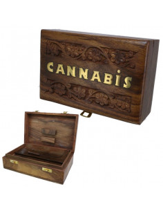 ROLL BOX CANNABIS 3 pudełko drewniane na jointy i bibułki
