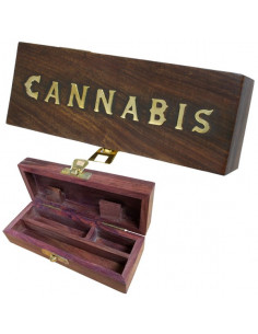 ROLL BOX CANNABIS LONG pudełko drewniane na jointy i bibułki