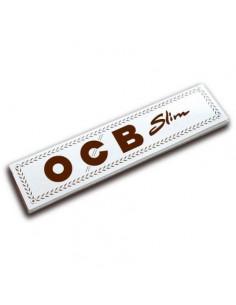 OCB WHITE Bibułki Slim białe