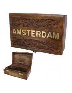 ROLL BOX AMSTERDAM 2 pudełko drewniane na jointy i bibułki