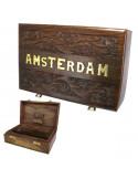 ROLL BOX AMSTERDAM BIG pudełko drewniane na jointy i bibułki