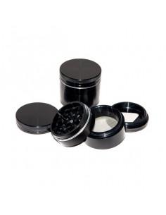 Młynek Grinder Aluminiowy magnetyczny 4 częściowy 40mm Czarny