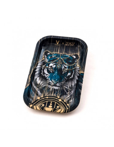 V-SYNDICATE TIGER tacka do zwijania jointów rolling tray metalowa