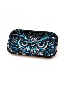 V-SYNDICATE OWL SOWA tacka do zwijania jointów rolling tray metalowa