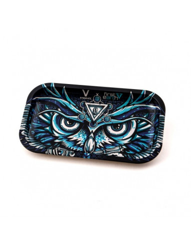 V-SYNDICATE OWL SOWA tacka do zwijania jointów rolling tray metalowa