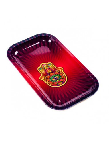 V-SYNDICATE TRIPPY HAND tacka do zwijania jointów rolling tray metalowa