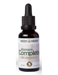 Obraz produktu: medi hemp 30ml 5% cbd naturalny olejek z ekstrakcji co2