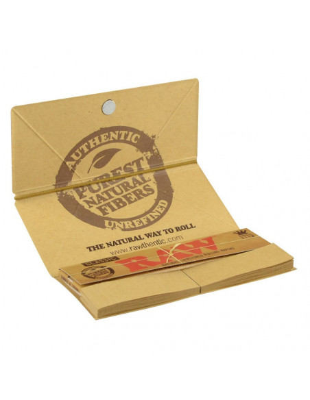 RAW ARTESANO King Size Slim tissue papers with filters and a filming tray