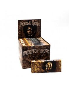 PURPLE HAZE Jimi Hendrix Unbleached King Size slim Bibułki + Filterki