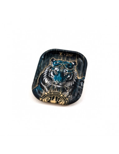 V-SYNDICATE TIGER SMALL tacka do zwijania jointów rolling tray metalowa