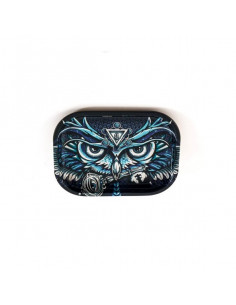 Obraz produktu: v-syndicate owl sowa small tacka do zwijania jointów rolling tray metalowa