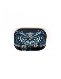 V-SYNDICATE OWL SOWA SMALL tacka do zwijania jointów rolling tray metalowa