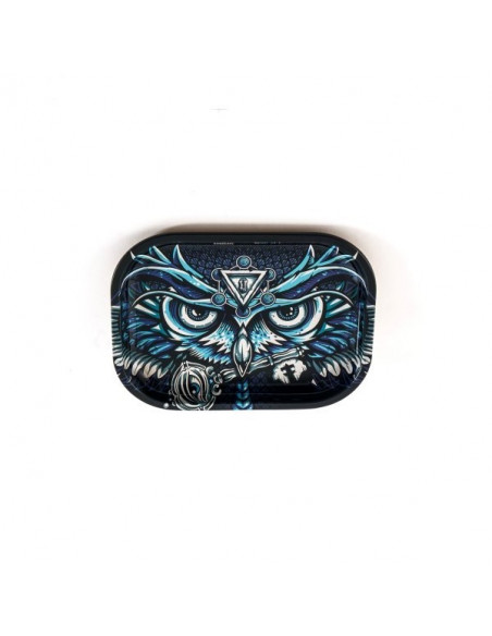 V-SYNDICATE OWL SOWA SMALL tacka do zwijania jointów rolling tray metalowa
