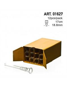 Rurka szklana do bonga z cybuchem 17cm szlif 18.8mm uniwersalna