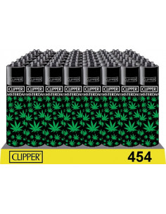 Clipper zapalniczka LEAVES BLACK GREEN