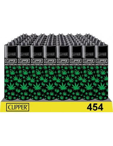 Clipper zapalniczka LEAVES BLACK GREEN