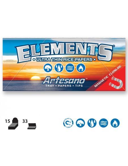 ELEMENTS artesano king size slim bibułki z filterkami i tacką 33