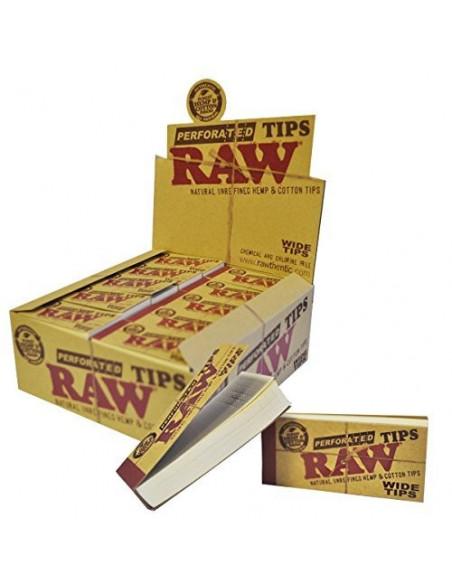 RAW Wide perforated tips 50 filterki do jointów gwizdki