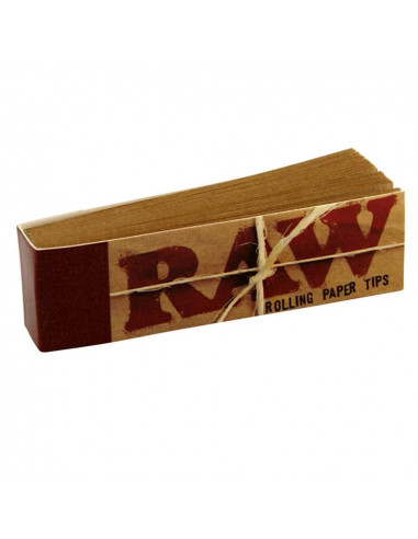 RAW perforated unbleached tips 50 joint filters, whistles