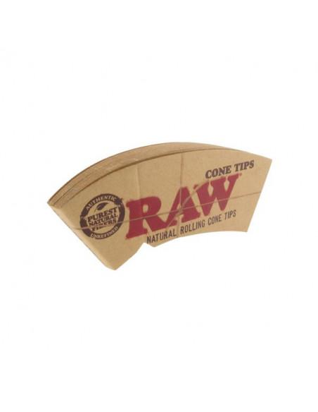 RAW CONE zakrzywione filterki do jointów perforowane niechlorowane
