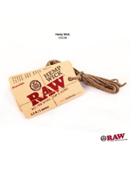 RAW knot konopny 100cm - HEMP WICK natural
