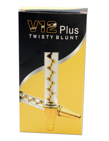 Szklany blunt V12 TWISTY Quartz glass blunt z adapterem do bonga