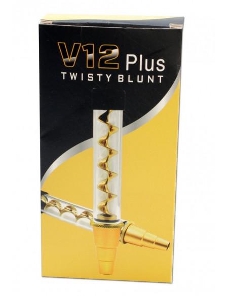 Szklany blunt V12 TWISTY Quartz glass blunt z adapterem do bonga